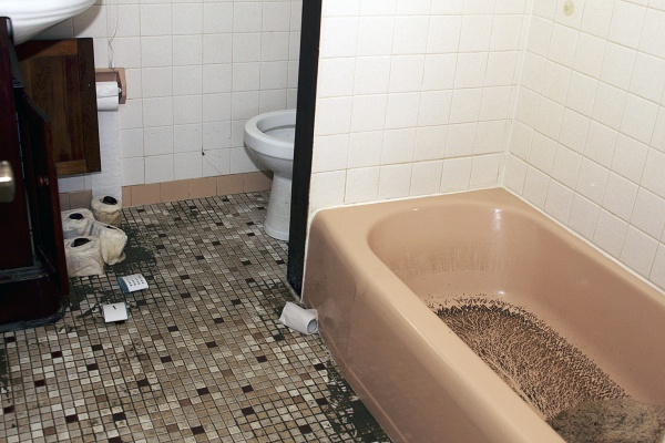 <p>Flood damage is not just a mess, but a health hazard because of mold. ( Jana Shea /for NewsWorks )</p>