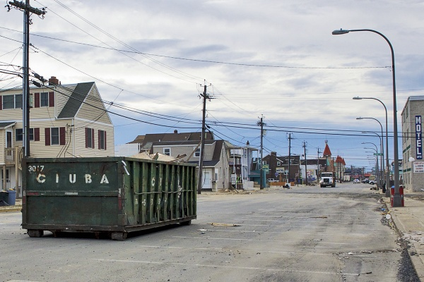<p>Seaside Heights' main drags are empty except for contractors and the occasional Mack Truck carting away more debris.( Jana Shea /for NewsWorks )</p>