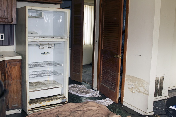 <p>Inside homes, water levels exceeded two feet, destroying electrical appliances and leaving behind mold. ( Jana Shea /for NewsWorks )</p>
