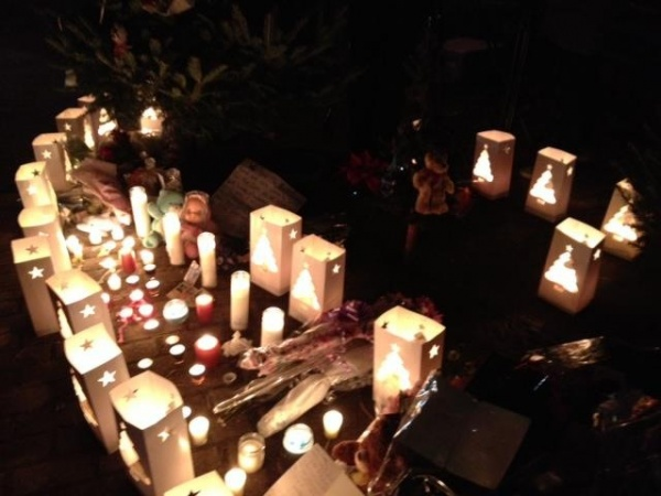 <p><p>A memorial for the shooting victims in Newtown, CT. (Photo courtesy of Monika Gupta)</p></p>
