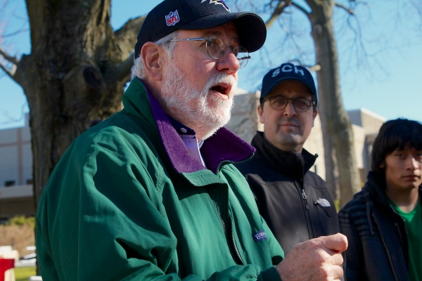 <p>Bryan Miller, executive Director of Heeding God's Call says faith groups need to be part of the solution to stopping gun violence.  ( Jana Shea /for NewsWorks )</p>