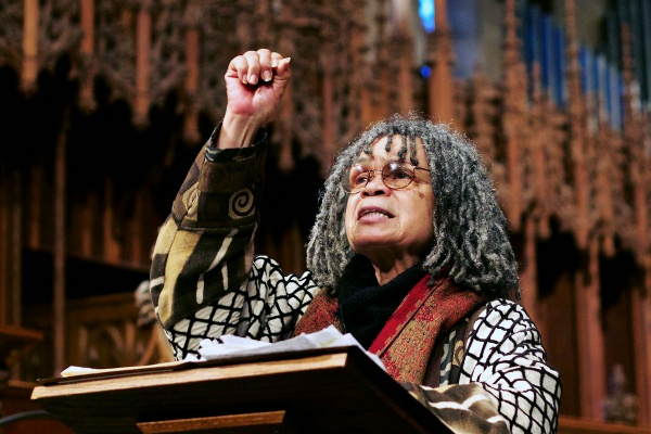 <p><p>Philadelphia Poet Laureate, Sonia Sanchez, delighted the audience by reading a selection of her poems. (Jana Shea/for NewsWorks)</p></p>