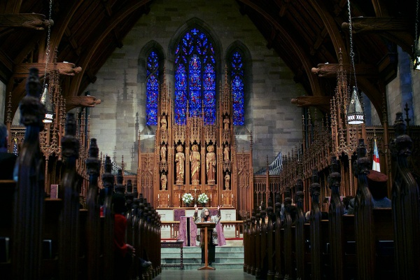 <p><p>Philadelphia Poet Laureate, Sonia Sanchez, gave a reading in honor of former First Lady Eleanor Roosevelt's visit to St. Paul's Episcopal Church some 64 years ago. (Jana Shea/for NewsWorks)</p></p>