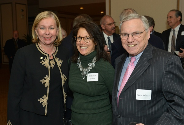 <p><p>Kathleen Wilkinson (left), Deborah Gross, and Ken Shear, executive director of the Philadelphia Bar Association (Photo courtesy of Edward Savaria, Jr.)</p></p>