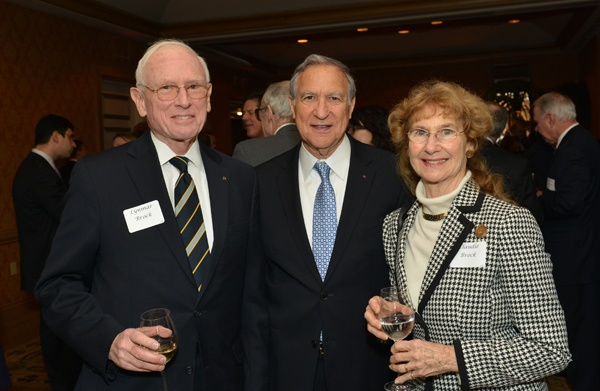 <p><p>Lynmar Brock, Jr. (left), honoree David H. Marion of the law firm Archer & Greiner, and Claudie Brock, wife of Lynmar (Photo courtesy of Edward Savaria, Jr.)</p></p>