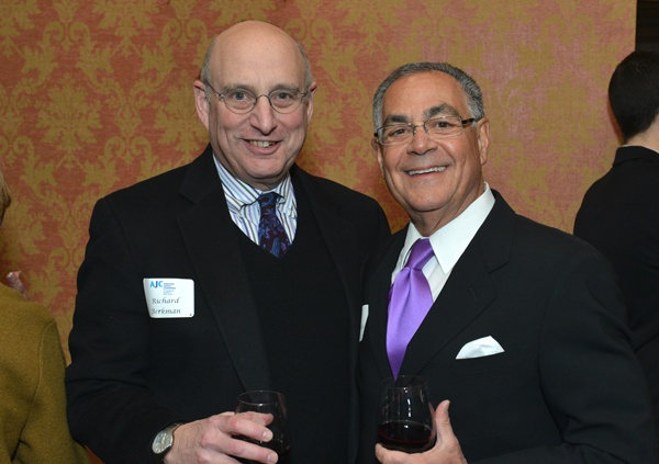 <p><p>American Jewish Committee board members Richard Berkman (left) of the law firm Dechert, and Harold Yaffe, AJC board chair emeritus (Photo courtesy of Edward Savaria, Jr.)</p></p>