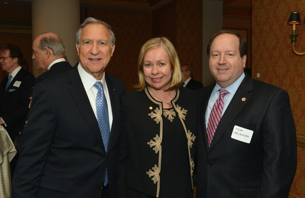 <p><p>Honoree David H. Marion (left) of the law firm Archer & Greiner, Kathleen Wilkinson, and her husband Thomas G. Wilkinson, Jr. of the law firm Cozen O'Connor (Photo courtesy of Edward Savaria, Jr.)</p></p>
