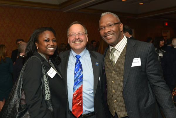 <p><p>Rachel Branson (left), Nelson Diaz of the law firm Dilworth Paxson, and Carlton Johnson of the law firm Archer & Greiner (Photo courtesy of Edward Savaria, Jr.)</p></p>