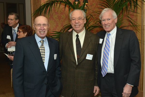 <p><p>Len Grossman (left), former president and chair of American Jewish Committee's regional office, Parkway chairman and CEO Joseph Zuritsky, and AJC board chair Thomas H. Tropp (Photo courtesy of Edward Savaria, Jr.)</p></p>