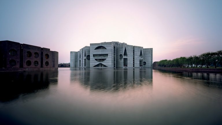 One of the many buildings Louis Kahn designed is the National Assembly Building in Bangladesh (Photo courtesy of Raymond Meire)