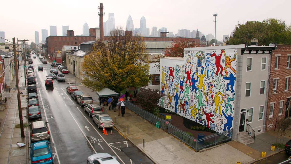 The Mural Arts Program restored a mural by iconic pop artist Keith Haring on the corner of 22nd and Ellsworth Streets.