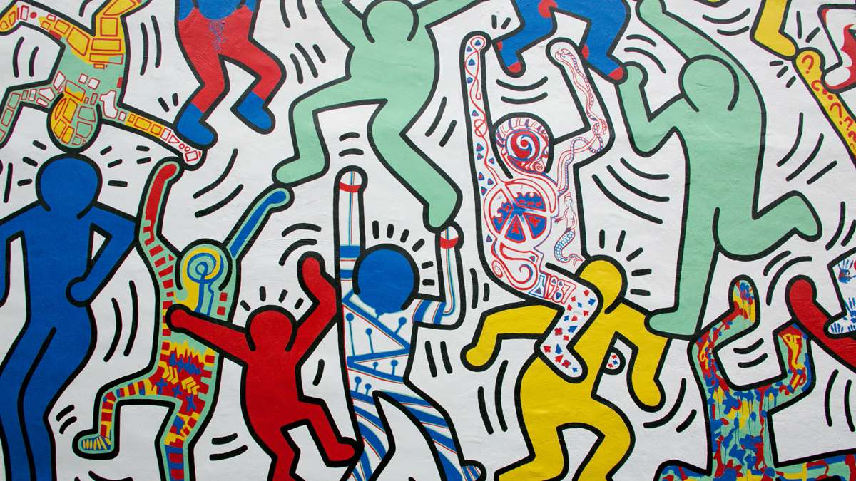 """We the Youth"" was originally created in 1987 and is the only intact Keith Haring mural in its original location."