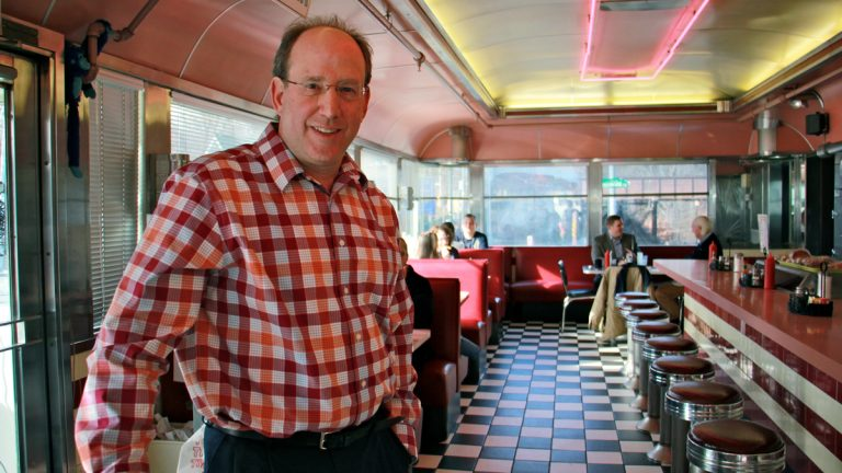 Ken Weinstein owns the Trolley Car Diner in Mt. Airy. (Emma Lee/WHYY, file)