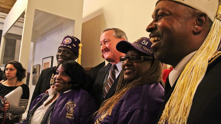 Jim Kenney finally formally announced his mayoral bid at an event on the second floor of City Hall on Wednesday afternoon. (Kimberly Paynter/WHYY)