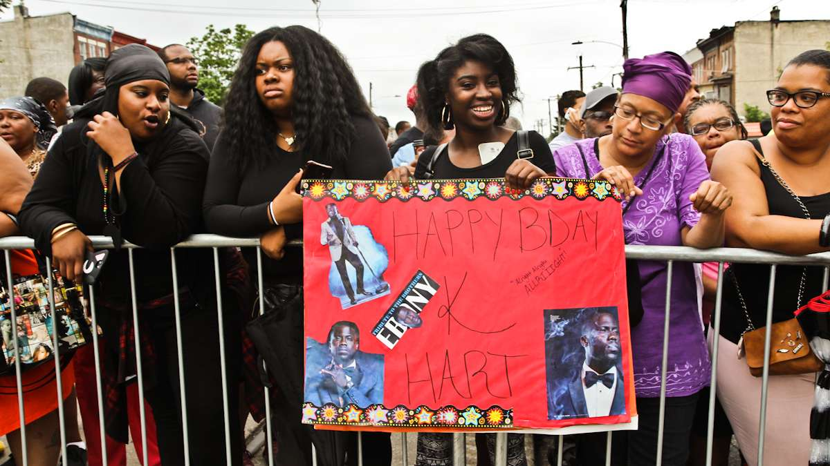 Jeriesha Franklin created a sign for Philadelphia Kevin Hart on his birthday.