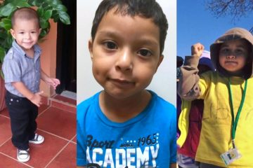 Pictured are three of four boys who have been held at the Berks County Residential Center with their mothers for more than a year and a half despite their status, which makes them eligible for permanent residency. (Photos provided by Amnesty International)