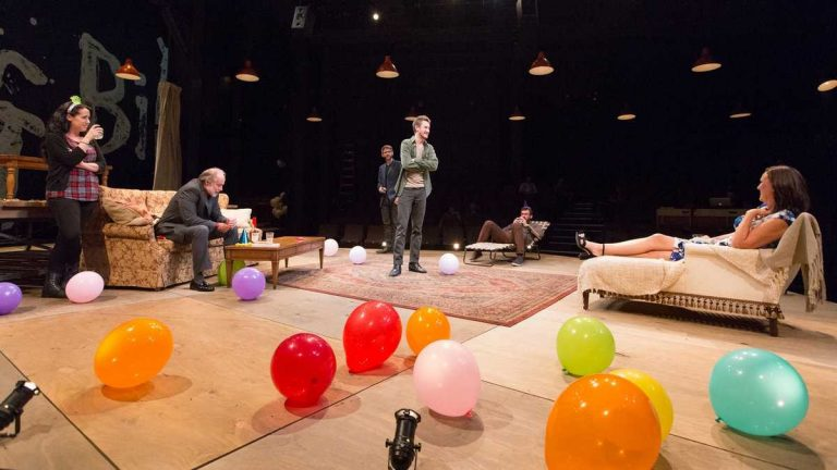 The ensemble in 'Stupid F#*@ing Bird,' an Arden Theatre Company production that's nominated as best production of a play in this year's Barrymore Awards.