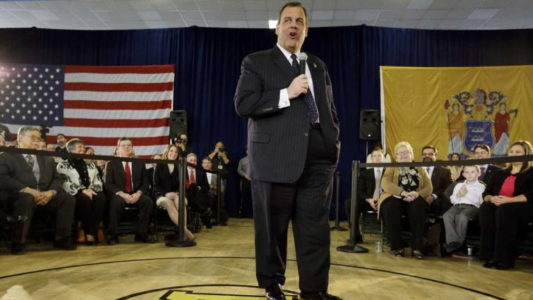 Gov. Christie at a town hall meeting Weds, Feb. 25, 2015, in Moorestown, N.J. (AP File Photo/Mel Evans)