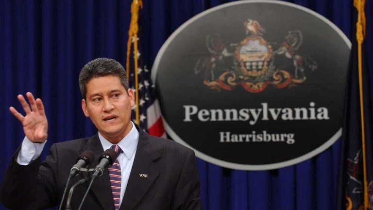 Pedro Cortes is charged with overseeing the integrity of the electoral process in Pennsylvania. (AP Image, file)