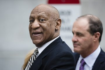 Bill Cosby departs the Montgomery County Courthouse after an April pretrial hearing in his sexual assault case in Norristown, Pa. (AP Photo/Matt Rourke, File)