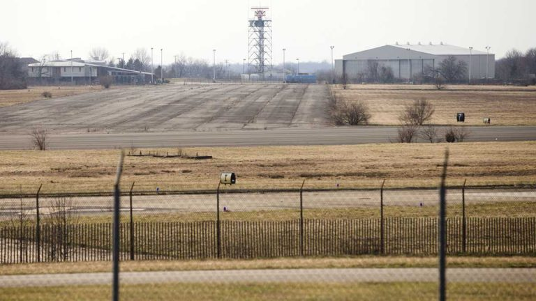 The former Naval Air Station Joint Reserve Base Willow Grove and present day Horsham Air Guard Station is in Horsham, Pa. The military is checking whether chemicals from firefighting foam might have contaminated groundwater at hundreds of sites nationwide and potentially tainted drinking water, the Defense Department said. (Matt Rourke/AP Photo)