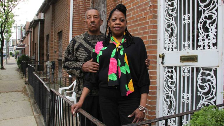 Gerald and Connie Renfrow are among a handful of the original residents who still live on the 6200 block of Osage Avenue. (Emma Lee/WHYY)