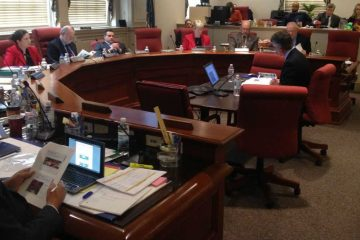Members of the Joint Finance Committee meet in Dover in this file photo. (File/WHYY)