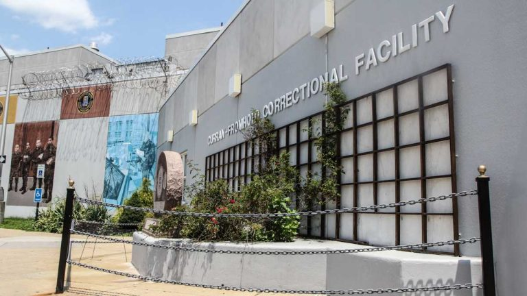 A Curran-Fromhold Correctional Facility inmate hanged himself Tuesday.(Kimberly Paynter/WHYY)