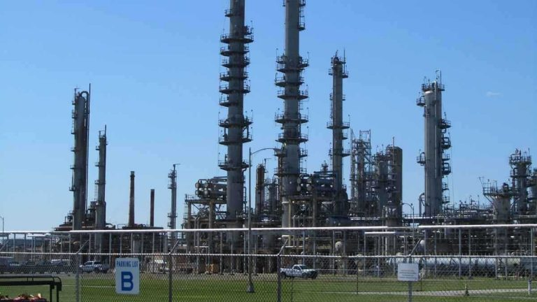 The refinery near Delaware City has been fined for violating a state order and shipping 35.7 million gallons of crude oil to unauthorized facilities. (File/WHYY)