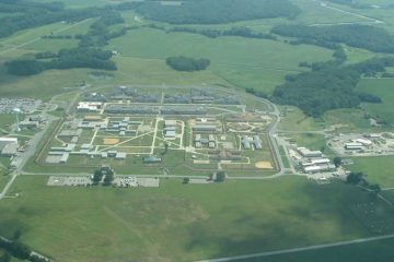 Vaughn Correctional Center in Smyrna seen from above. (image via GoogleMaps)