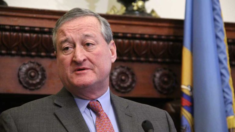 Philadelphia Mayor Jim Kenney has signed on to the Sierra Club's Mayors for 100% Clean Energy pact. (Emma Lee/WHYY)