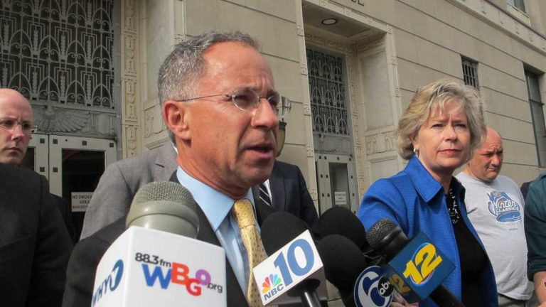 U.S. Attorney Paul Fishman speaks with reporters in this NewsWorks file photo. (Phil Gregory/WHYY)