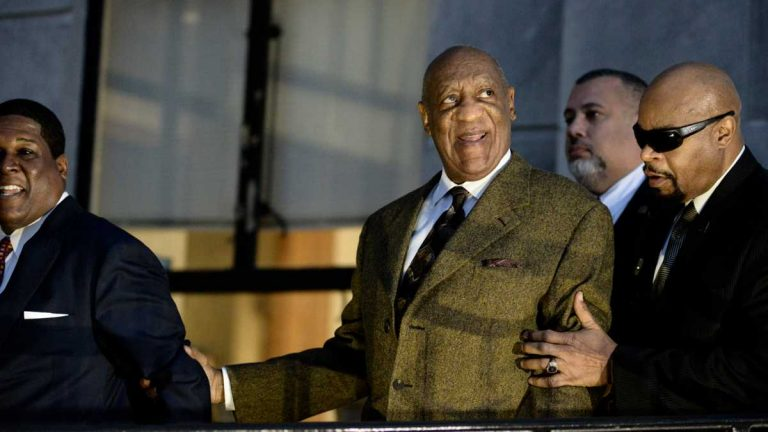 Bill Cosby leaves the Montgomery County Courthouse in Norristown, Pennsylvania, after a pretrial hearing Feb. 2. (Bastiaan Slabbers for NewsWorks, file)
