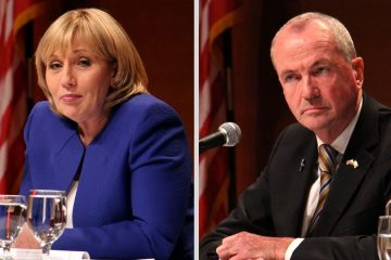 Republican Lt. Gov Kim Guadagno and Democrat Phil Murphy, as well as independent groups and primary opponents, spent a total of $79 million on the New Jersey gubernatorial campaigns. Murphy went on to win the November election. (Emma Lee/WHYY)