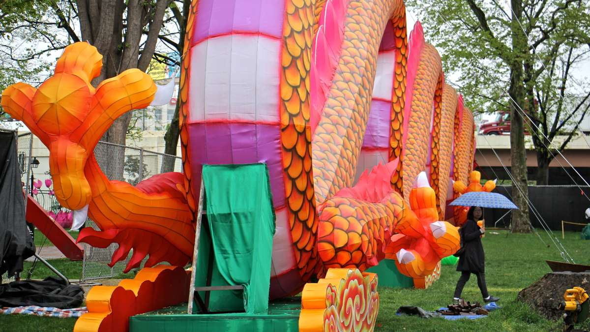 The dragon lantern is 200 feet long, 21 feet tall, and weighs 18,000 pounds.