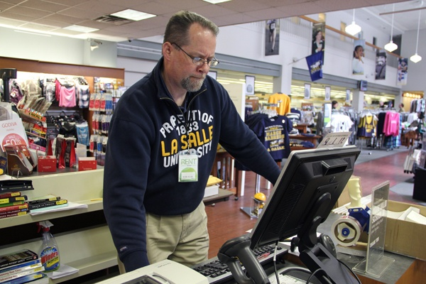 La Salle bookstore manager Mark Allan says he has been blitzed by online orders as the basketball team makes its way through the NCAA tournament.