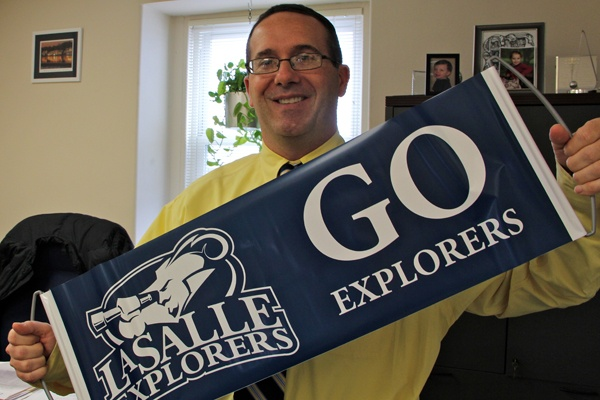 Trey Ulrich, assistant vice president for alumni relations, attended La Salle games in Dayton and Kansas City and is readying for a trip to Los Angeles.