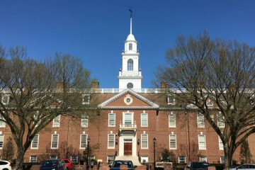 Legislative Hall in Dover. (Mark Eichmann/WHYY)