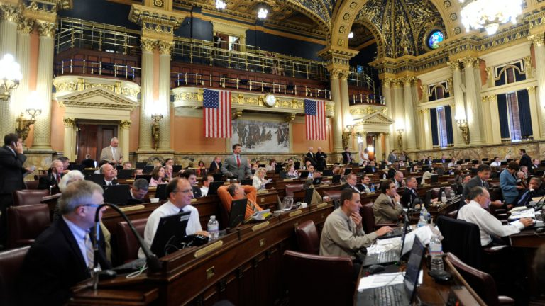 Members of the Pennsylvania House of Representatives meet to work on the 2012 state budget. (AP Photo/Bradley C Bower)