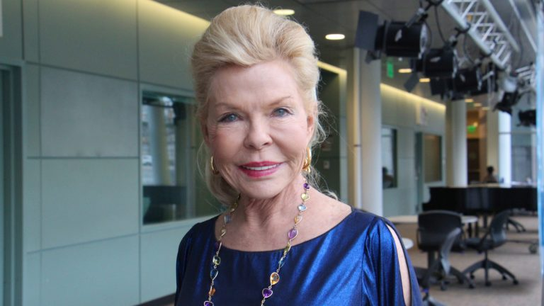 Lois Pope is a philanthropist and executive producer of the Ric Burns PBS documentary, 'VA: The Human Cost of War' (Emma Lee/WHYY)