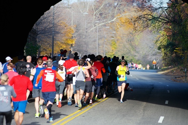 <p><p>16.Michael McKeeman of Ardmore, Pa. passes runners heading into East Falls as he runs back to Center City for the 2012 Philadelphia Marathon. McKeeman ended up winning the men's division of the race. (Bas Slabbers/for NewsWorks)</p></p>