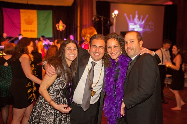 <p><p>Owner of Camp Green Lane Jay Freedman and his wife Melissa (left), with Staci and Dustin Seidman (Photo courtesy of Photos by Jonathan Meter)</p></p>