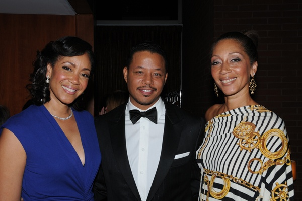 <p><p>Marian Anderson Award board chair, Pamela Browner White (left), gala host Terrence Howard, and Lauren Sutton (Photo courtesy of George B. Feder)</p></p>