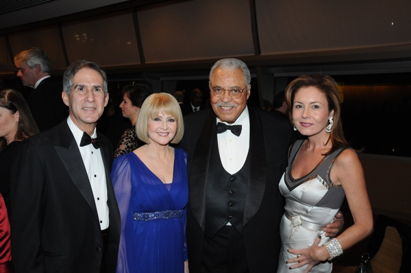 <p><p>Marian Anderson Award board vice chair and treasurer, James J. Cuorato (left), Cecilia Hart and her husband James Earl Jones, and Kelly Boyd (Photo courtesy of George B. Feder)</p></p>