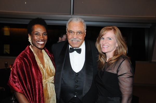 <p><p>Actor and honoree James Earl Jones with Marian Anderson board members Valerie V. Gay (left), and Margaret M. Cronan (Photo courtesy of George B. Feder)</p></p>