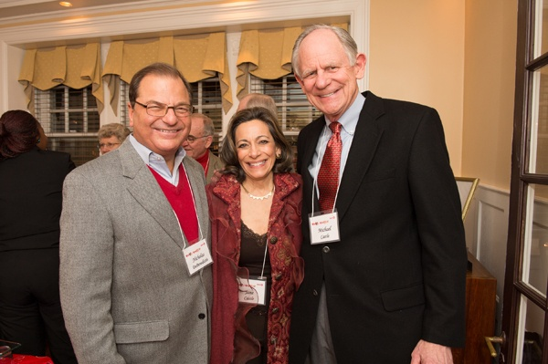 <p><p>President and CEO of Aqua America Nick DeBenedictis (left), with Jane Castle and her husband,  Mike Castle, former Governor and Congressman of Delaware and WHYY board member. (Photo courtesy of Daniel Burke Photography)</p></p>