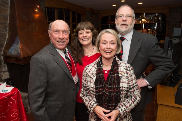 <p><p>Don Rosato and Judy Rosato (front) with Kathy McGrath and her husband, Mike McGrath, host of <em>You Bet Your Garden</em> (Photo courtesy of Daniel Burke Photography)</p></p>