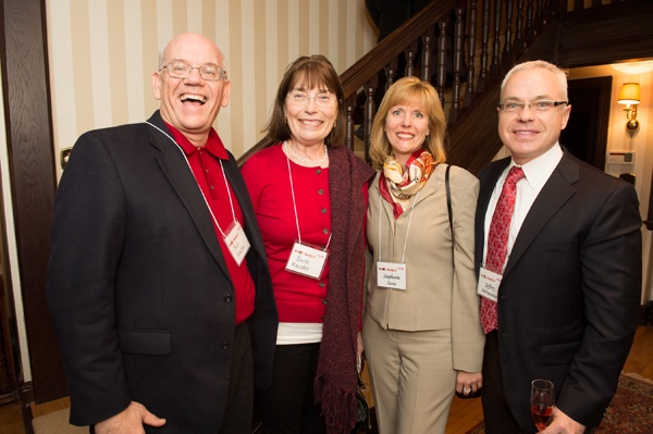 <p><p>Bob Kreider, President and CEO of Devereux Foundation (left) and his wife Barb, with Managing Director, Avancer Group and WHYY board member Stephanie Zarus, and Jeffrey DiFrancesco, founder and executive director of Avancer Group (Photo courtesy of Daniel Burke Photography)</p></p>