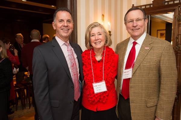 <p><p>WHYY President, CEO, and Valentine's Day party host Bill Marrazzo (left), with Leslie Stiles and her husband, Michael Stiles, senior vice president of the Phillies (Photo courtesy of Daniel Burke Photography)</p></p>