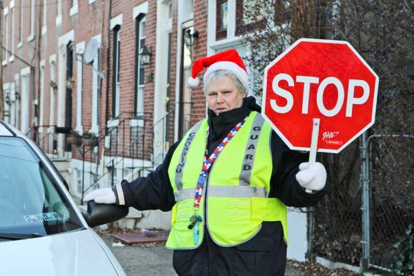 <p><p>Nominated Crossing Guard Mary Evans has been keeping kids safe on the corner of Hermitage and Smick streets in Manayunk for 8 years. (Kimberly Paynter/WHYY)</p></p>